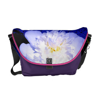 White Peony Courier Bag