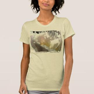 White Peony Design T-shirt