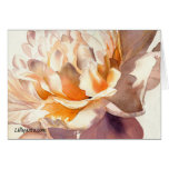 White Peony Fine Art Watercolor Greeting Card
