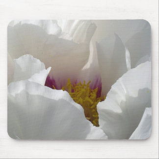 White Peony Flower Mousepad