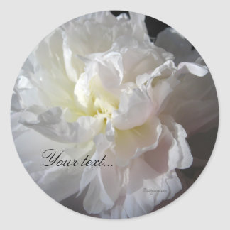 White Peony Flower Wedding Invitation Seals
