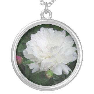 White Peony Necklace