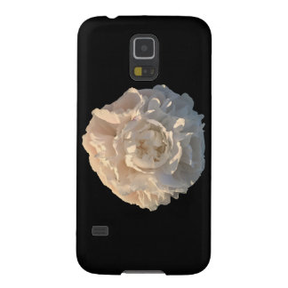 White Peony on a black background Case For Galaxy S5