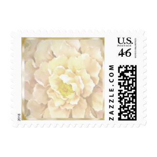 White Peony Stamps