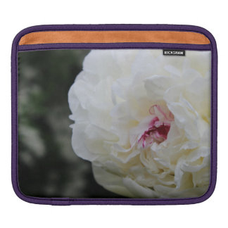 White Peony Sleeves For iPads