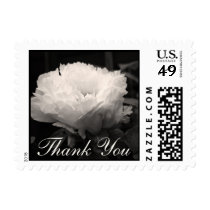 White Peony Sympathy Thank You Postage