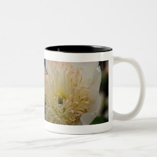 White Peony | Weisse Pfingstrose Two-Tone Coffee Mug