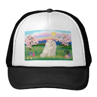 White Persian Cat - Blossoms Trucker Hat