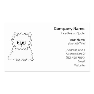 White Persian Cat. Business Card