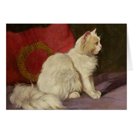 White Persian Cat Card