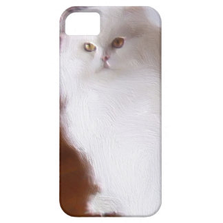 White Persian cat iPhone 5 Case Barely There