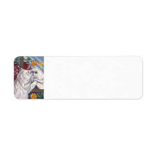 WHITE PERSIAN CAT Mirror Avery Label