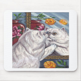 WHITE PERSIAN CAT Mirror Mouse Pad