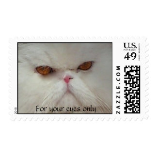 White Persian Cat Stamp