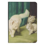 White Persian Cat with Two Kittens Kindle Touch Case