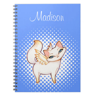 White Persian Fairy Cat Personalized Notebook