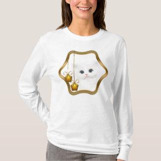 White persian kitten Christmas T-Shirt