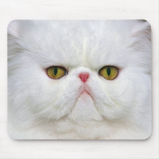 White Persian Mouse Pad