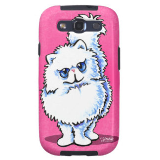 White Persian Portriat Off-Leash Art™ Galaxy SIII Cases
