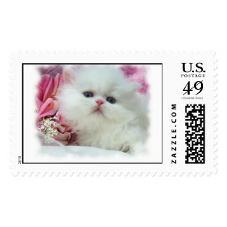 White Persian Postage Stamp