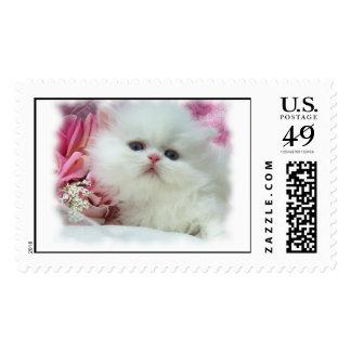 White Persian Postage Stamp
