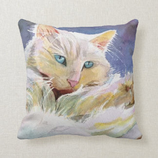 White Persian Square Throw Pillow (RParker6)