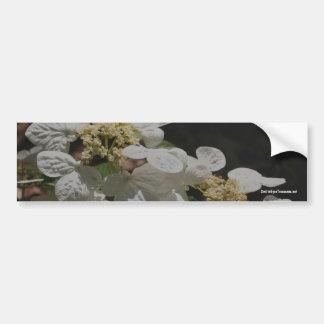 White Petals Flower Photo Bumper Sticker