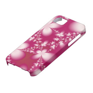 White Petals on Cerise iPhone 5 Case