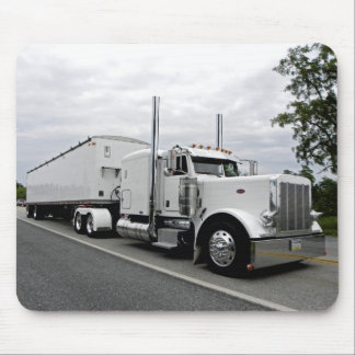 White Peterbilt 379 Mousepad