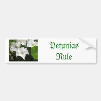 White Petunias Bumper Sticker