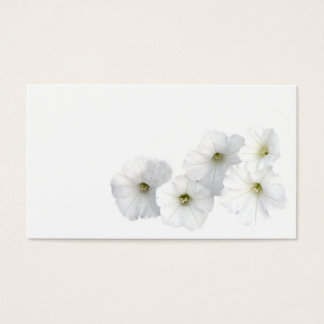 White Petunias Business Card
