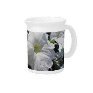 White Petunias Drink Pitcher