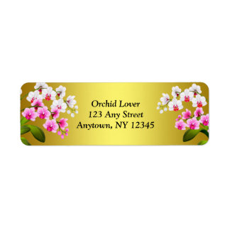 White Phalaenopsis Orchid Flowers Labels