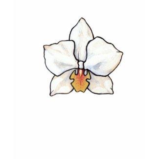 White phalaenopsis orchid shirt shirt