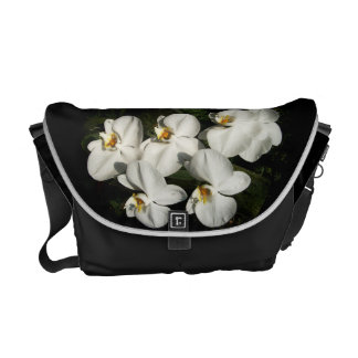 White phalaenopsis orchids courier bag