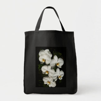 White phalaenopsis orchids grocery tote bag