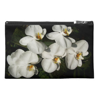 White phalaenopsis orchids travel accessories bags