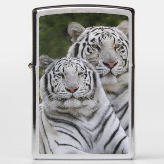 White phase, Bengal Tiger, Tigris Zippo Lighter