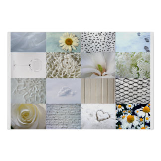 White Photo Collage Poster
