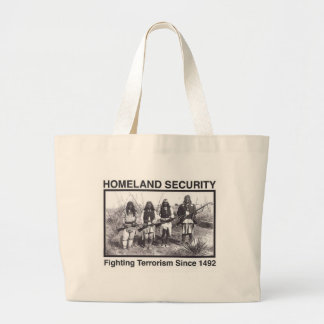 White Photo Indian Homeland Security Large Tote Bag