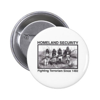 White Photo Indian Homeland Security Pinback Button