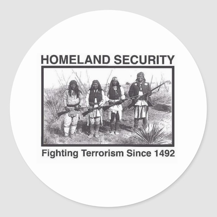White Photo Indian Homeland Security Sticker