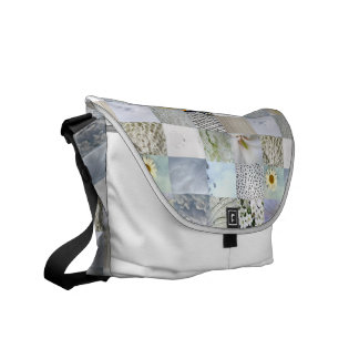 White Photo Quilt Collage Bag