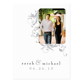 White Photo Save the Date 04 Post Cards