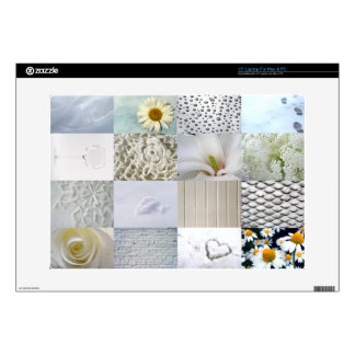 "White photography collage 15"" laptop skin"