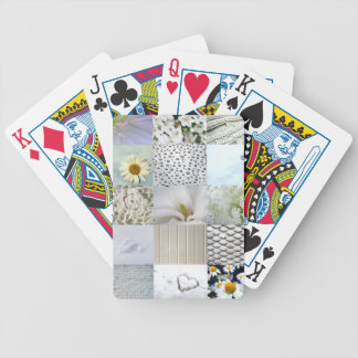 White photography collage bicycle playing cards