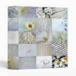 White photography collage binder