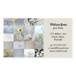 White photography collage Double-Sided standard business cards (Pack of 100)