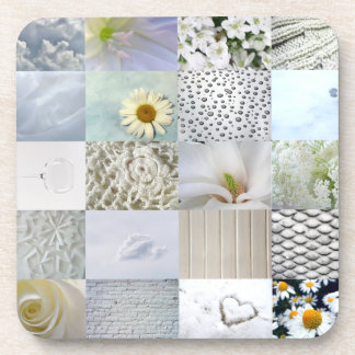 White photography collage coaster