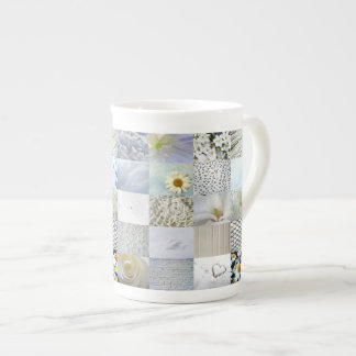 White photography collage tea cup
